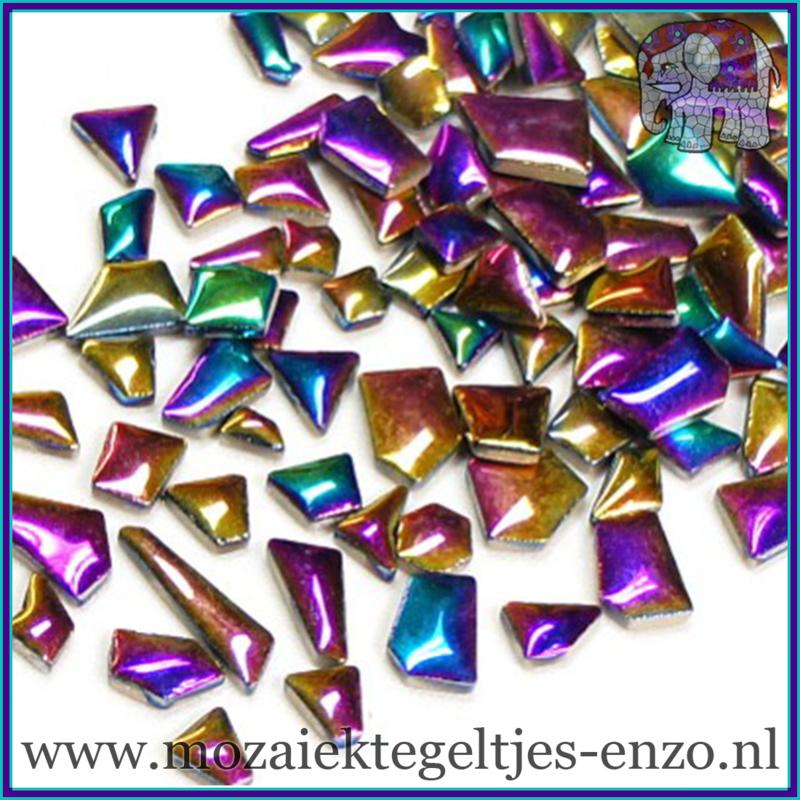 Keramische mozaiek steentjes - Keramiek Puzzel Stukjes Normaal - Enkele Kleuren - per 50 gram - Disco Lights