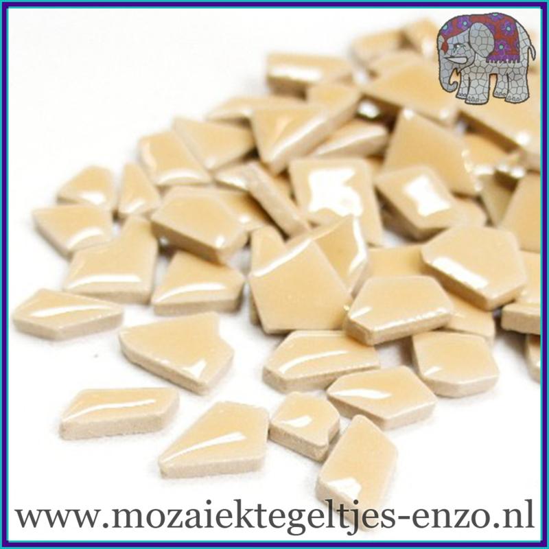 Keramische mozaiek steentjes - Keramiek Puzzel Stukjes Normaal - Enkele Kleuren - per 50 gram - Light Tan