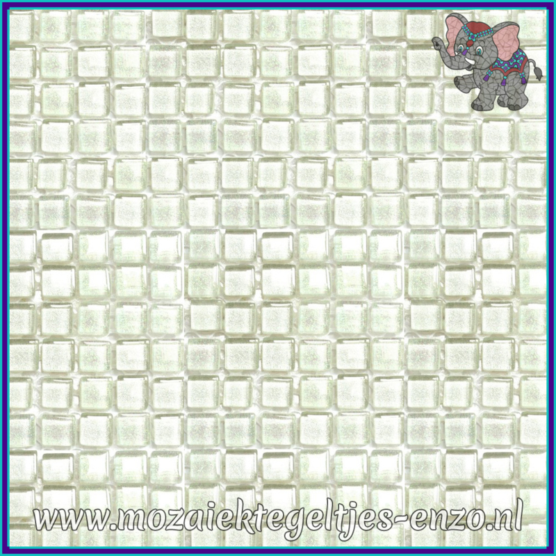 Glasmozaiek tegeltjes - Glitter - 1 x 1 cm - Gemixte Kleuren - per 60 steentjes - Mini Snowflake