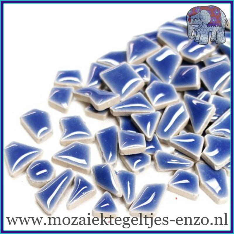 Keramische mozaiek steentjes - Keramiek Puzzel Stukjes Normaal - Enkele Kleuren - per 50 gram - Foxglove
