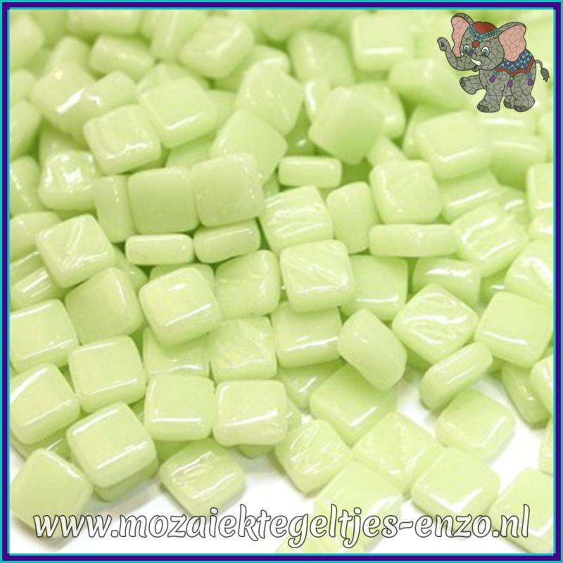 Glasmozaiek Pixel steentjes - Ottoman Normaal - 0,8 x 0,8 cm - Enkele Kleuren - per 50 gram - Soft Green