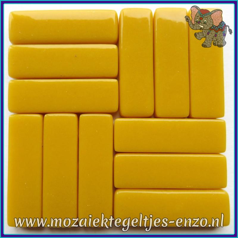 Glasmozaiek steentjes - Stix Rechthoekjes Staafjes XL Normaal - 12 x 38 mm - Enkele Kleuren - per 50 gram - Amber Opal