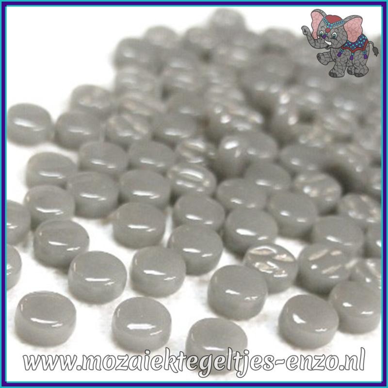 Glasmozaiek Pixel steentjes - Darling Dotz Normaal - 0,8 cm - Enkele Kleuren - per 50 gram - Midtone Grey