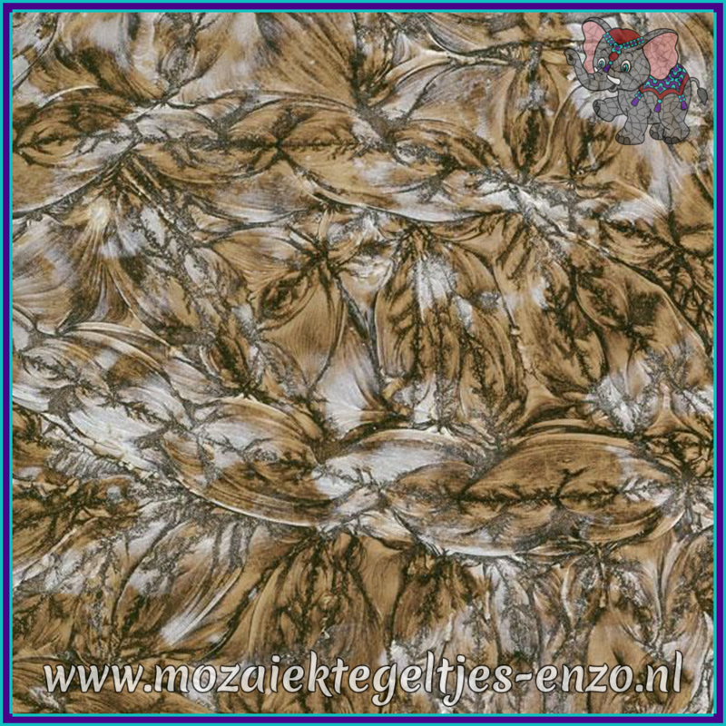 Plaatglas - Van Gogh Glass Normaal - 5 x 10 cm - Gemixte Kleuren - per 1 stuk - Champagne Silver