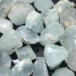 Aquamarijn ruw kristal