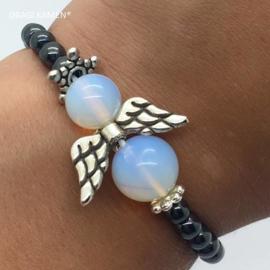 Armband met opaline of zee opaal engel