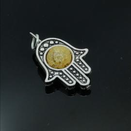 Beschermende Hamsa/Fatima's hand hanger 'Sunshine'