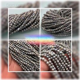 Streng parels, lichtgrijs/zilvergrijs, zonder sluiting