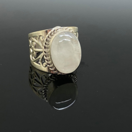 Maansteen ring, 16,5 mm/52, 925 zilver