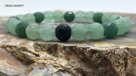 DRAGI KAMEN® - Armband met Groene Aventurijn 8 mm facet geslepen kralen.