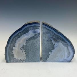 Boekensteunen, bergkristal, chalcedoon, agaat 3,3 kg