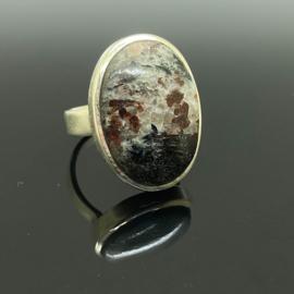 Astrofylliet ring, 17,5 mm/55, 925 zilver