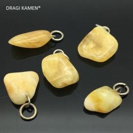 Golden healer hanger met zilveren hangoog.