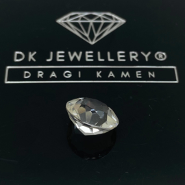 Facet geslepen Bergkristal 4,55 ct ø 10,8 mm