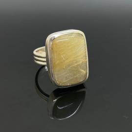 Rutielkwarts ring 17,25 mm/54, 925 zilver