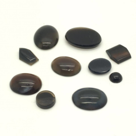 Agaat cabochons, 20,75 ct. Top Kwaliteit.