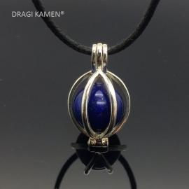 925 zilveren wisselhanger met Lapis Lazuli AAA Blue  bol.