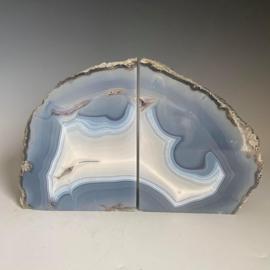Boekensteunen, agaat, amethist, bergkristal, chalcedoon, 3,1 kg