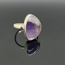 Amethist ring 18,5 mm/58, 925 zilver