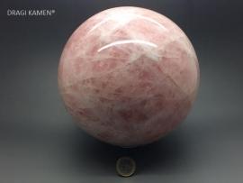 Roze kwarts/Rozenkwarts bol hoogglans gepolijst, 8,8 kg