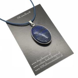 Blue Royal Lapis Lazuli hanger uit Afghanistan