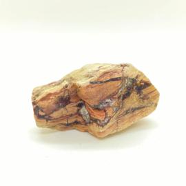 Versteend hout met kristallen, 131 gram