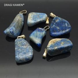 Lapis lazuli gezondheidshanger met zilveren hangoog.