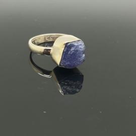 Tanzaniet ring 17,25 mm/54, 925 zilver