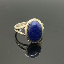 Lapis Lazuli ring, 19 mm/60, 925 zilver