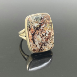 Astrofylliet ring, 17 mm/54, 925 zilver