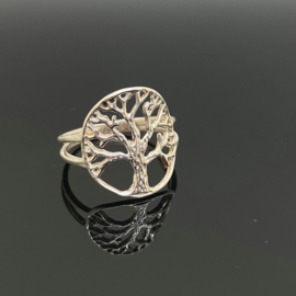 Tree of life ring 18 mm/57, 925 zilver