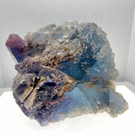 Fluoriet ruw kristal, blauw paars, 1459 gram