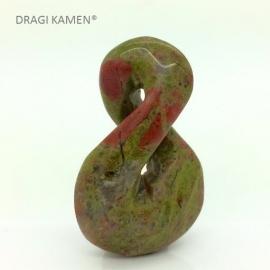 DRAGI KAMEN® - Unakiet Maori hanger Double Twist symbool.