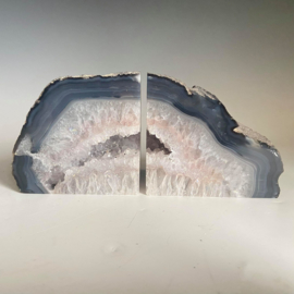 Boekensteunen, agaat, bergkristal,  1,9 kg