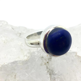925 zilveren ring met Lapis Lazuli, maat 18,75 / 59