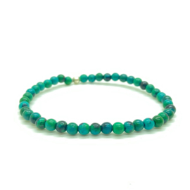Chrysocolla armband 4 mm