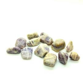 Charoiet (licht) hand-, knuffel-, meditatie steen