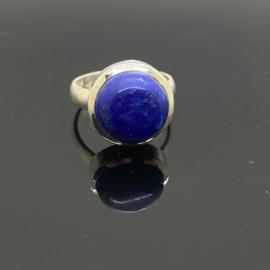 Lapis Lazuli ring, 18 mm/57, 925 zilver
