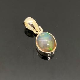 Opaal hanger, 925 zilver