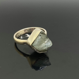 Aquamarijn ruw ring, 18,5 mm/58