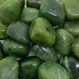 Jade hand-, meditatie-, knuffel-, trommelsteen