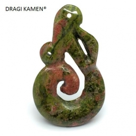 DRAGI KAMEN® - Unakiet Maori hanger Manaia symbool.