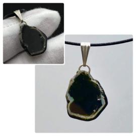 Groen Toermalijn kristal hanger