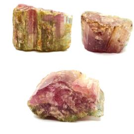 Bijzondere Watermeloen Toermalijn ruw kristal, 372 ct.