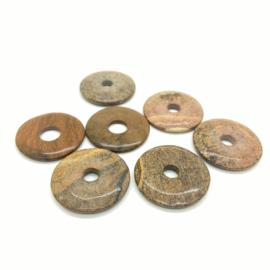 Landschap jaspis donut ø 40 mm