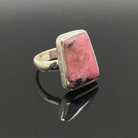 Rhodoniet ring 17,5 mm/55, 925 zilver