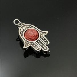 Beschermende Hamsa/Fatima's hand hanger 'Earth'