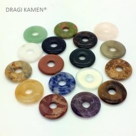 DRAGI KAMEN® - Donuts 1,8 cm in diverse edelsteen soorten.