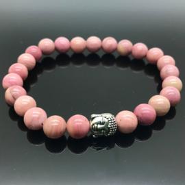 Buddha armband, Rhodoniet