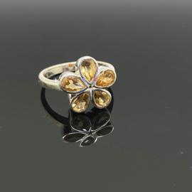 Citrien ring, 18,5 mm/58, 925 zilver